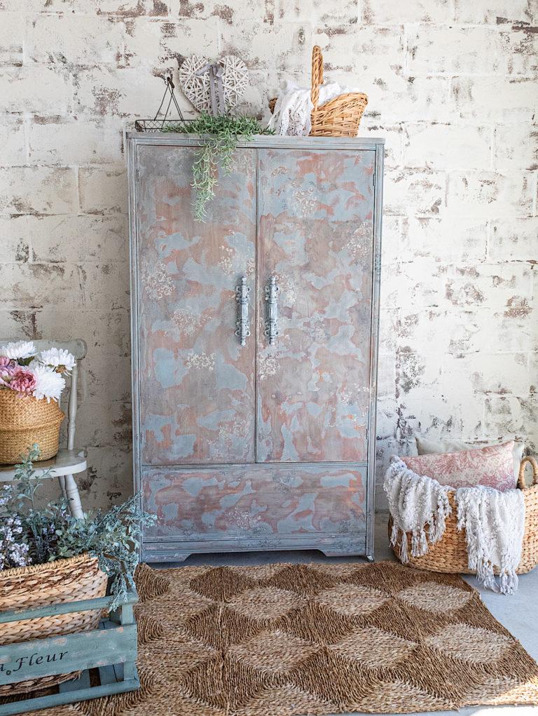 Stunning Antique Wardrobe / Vintage Farmhouse Look